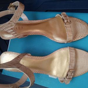 Ralph Lauren Snake Leather Sandals